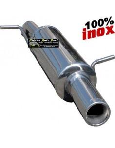 Silencieux échappement Inox 1 sortie Ronde diamètre 80mm Fiat panda 1l4 16v 100cv