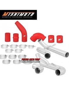 Kit tubulures d'échangeur Aluminium et Durites Rouge pour MITSUBISHI Lancer EVO 10