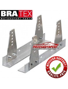 Fixations latérales Aluminium réglables FIA BRATEX