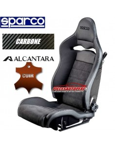 Siège sportif réglable Carbone SPARCO SPX Cuir/Alcantara