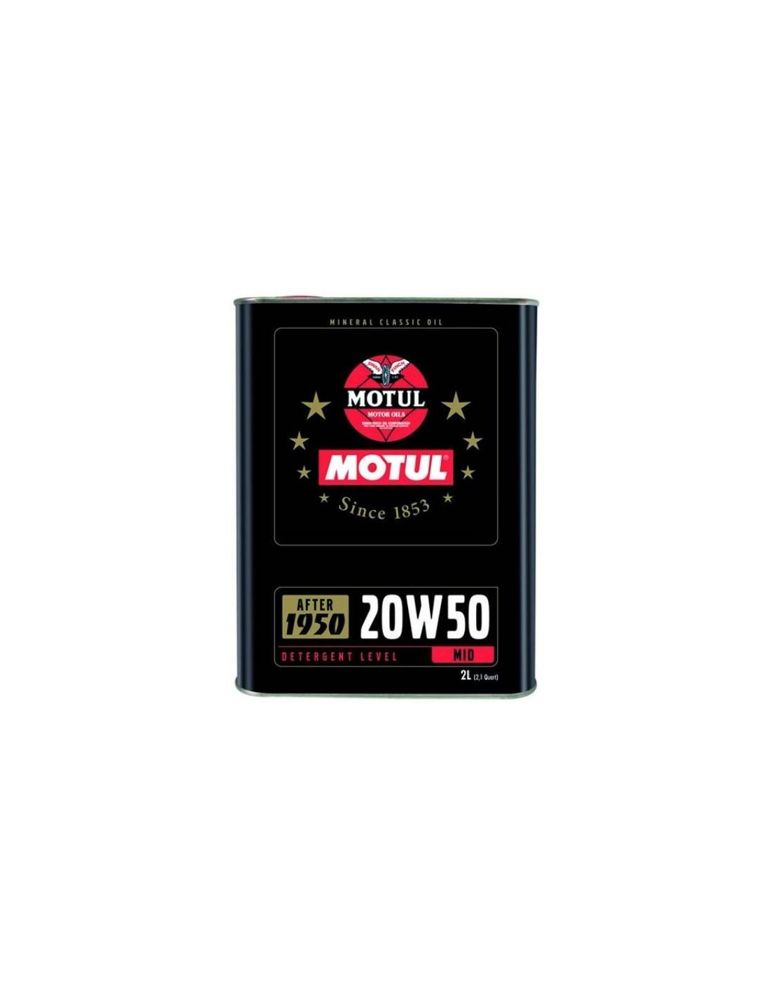 huile moteur multigrade motul classic oil 20w50 bidon de 2 litres. Black Bedroom Furniture Sets. Home Design Ideas