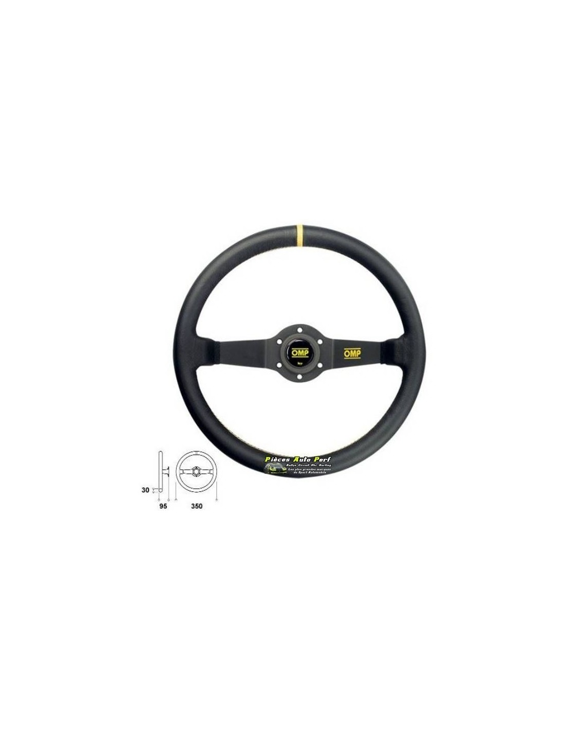 volant racing 350mm tulip 2 branches anodis es noir omp rally cuir noir. Black Bedroom Furniture Sets. Home Design Ideas