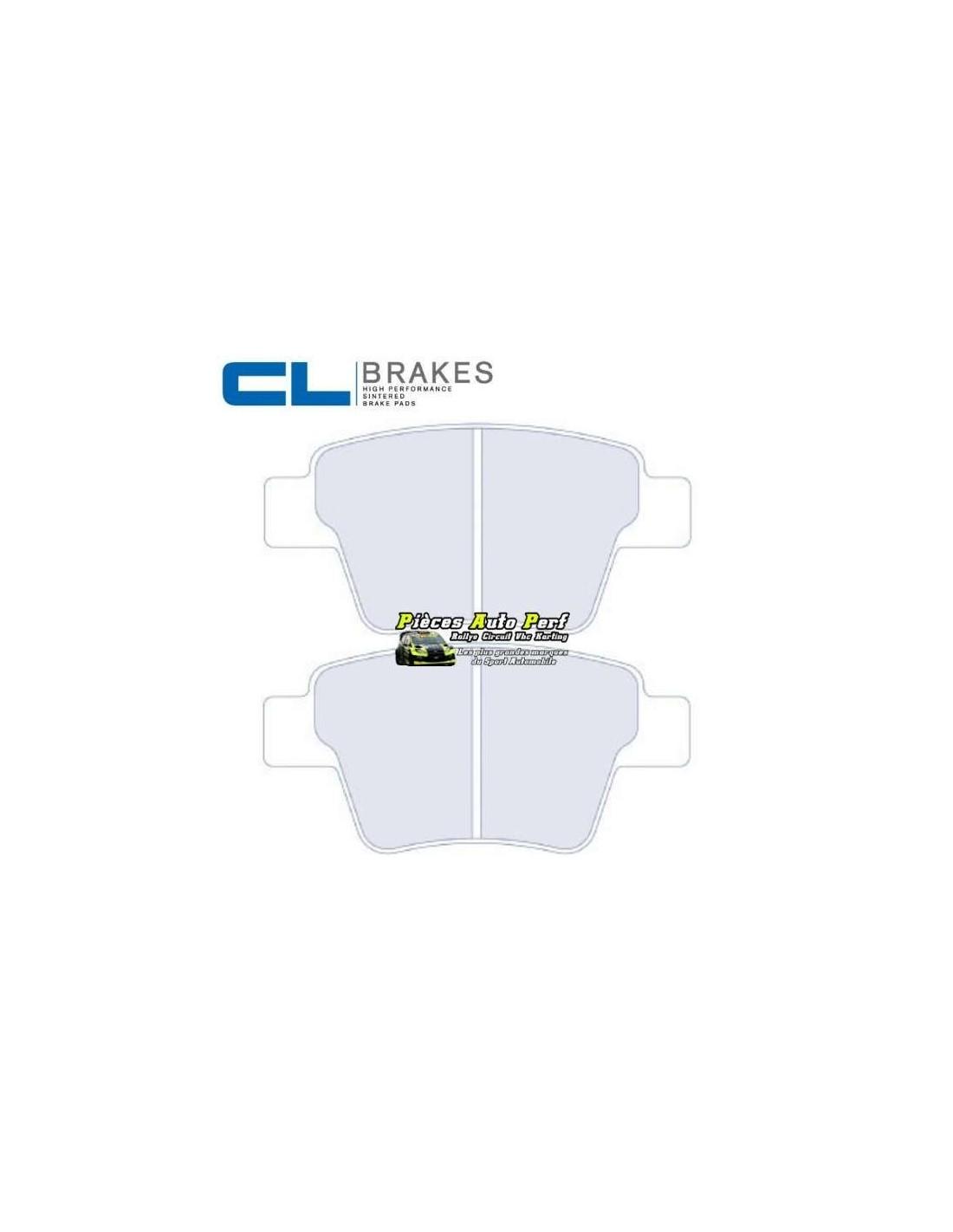 plaquettes de freins arri re cl brakes pour peugeot 207 rc. Black Bedroom Furniture Sets. Home Design Ideas