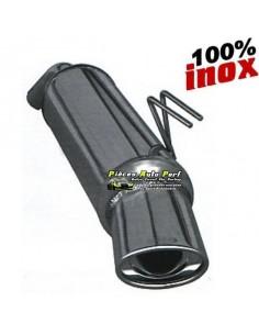 Silencieux échappement Inox 1 sortie Ovale 120x80mm Citroen C4 1l6 16v