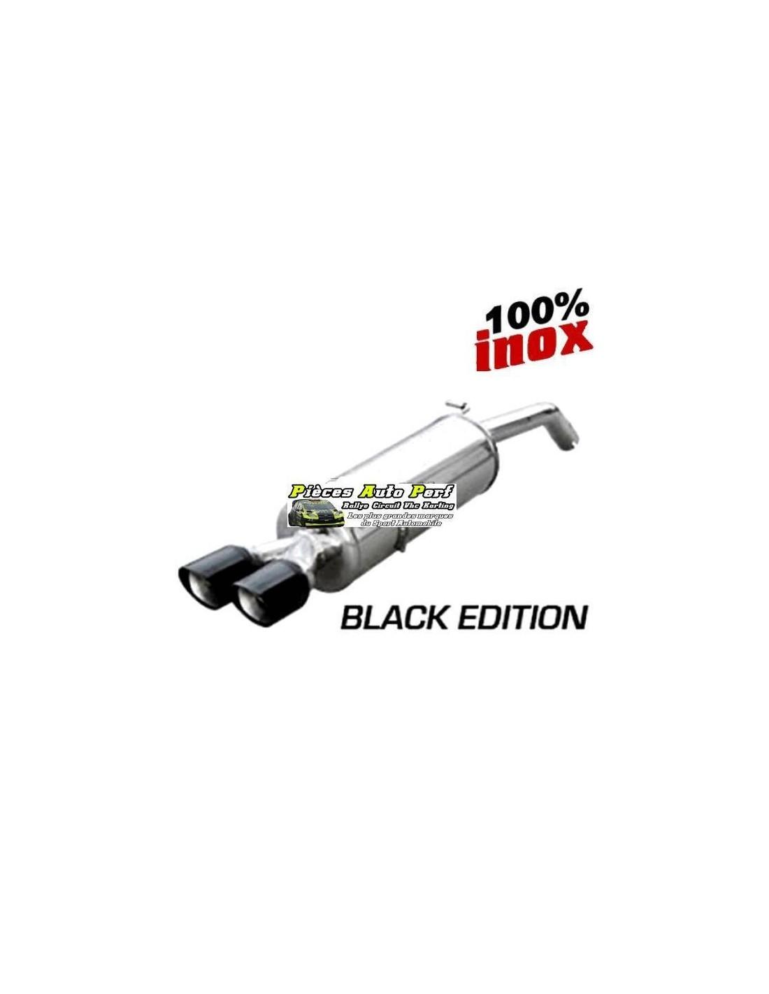 silencieux sport inox 2 sorties x race black citroen ds3 1l6 16v turbo racing. Black Bedroom Furniture Sets. Home Design Ideas