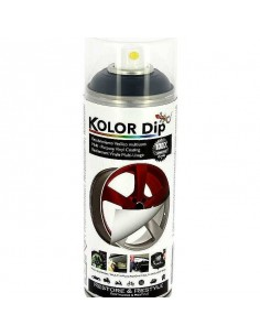 Bombe de peinture plastifiante KOLOR DIP Noir Métallisé