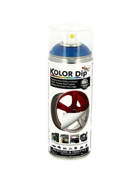 Bombe de peinture plastifiante KOLOR DIP Bleu Métallisé