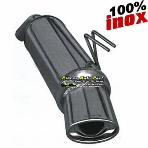 Silencieux échappement Inox 1 sortie Ovale 120x80mm Citroen DS4 2l0 HDi
