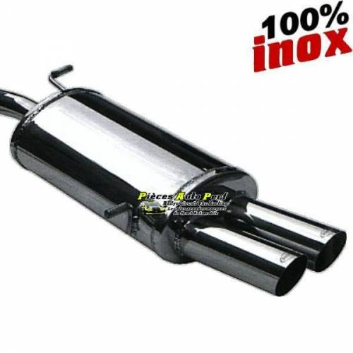 Silencieux échappement Inox 2 sorties Racing 80mm Citroen DS4 2l0 HDi