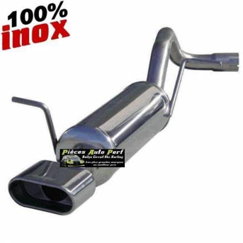 Silencieux échappement Inox 1 sortie Oblong Volkswagen Golf 4 1l6 16v