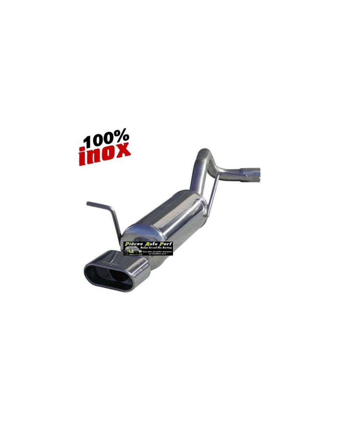 silencieux sportif inox 1 sortie oblong volkswagen golf 4 1l8 20v. Black Bedroom Furniture Sets. Home Design Ideas