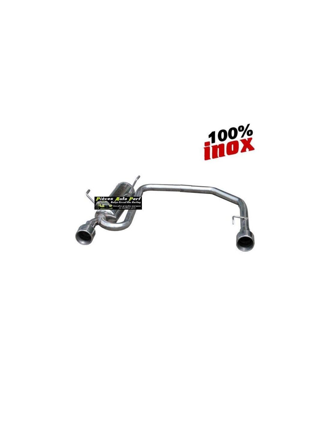 silencieux duplex inox 1 sortie ronde d g 102mm volkswagen golf 4 1l8 20v. Black Bedroom Furniture Sets. Home Design Ideas