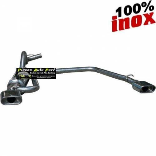 Silencieux échappement Inox 1 sortie D+G Ovale 120x80mm Volkswagen Golf 4 1l8 20v