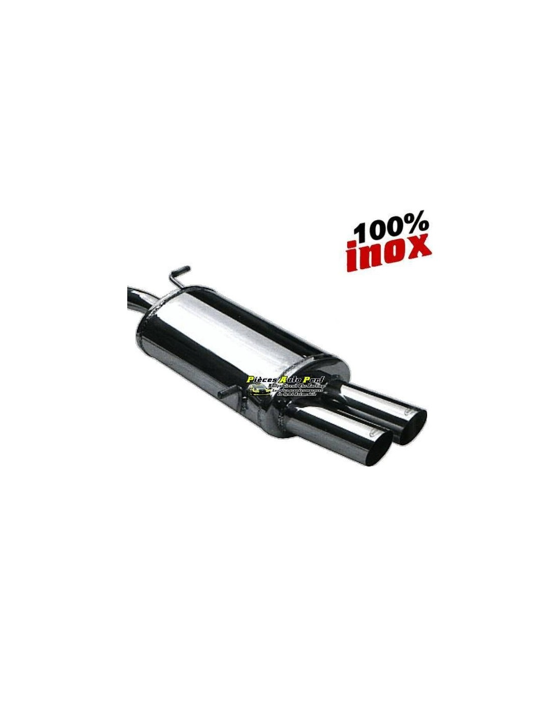 silencieux homologu u00e9 inox 2 sorties racing 80mm alfa romeo