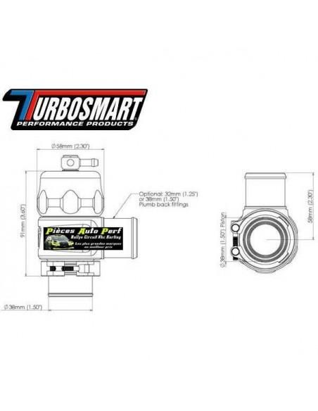 Turbo valve étanche Universel à circuit fermé TURBOSMART Plum Back Bleu