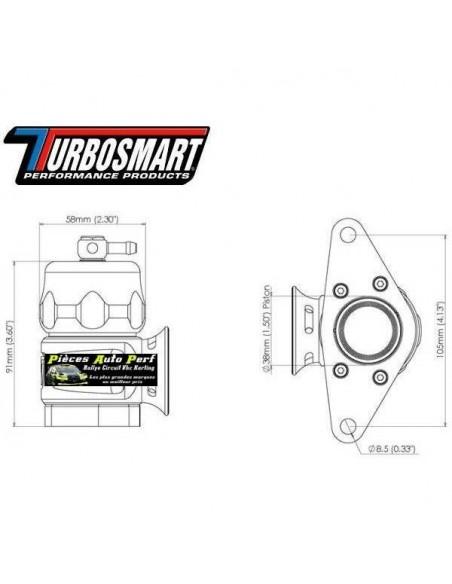 Turbo valve à circuit Ouvert TURBOSMART Bleu pour SUBARU Impreza WRX/STi Année 2001 à 2007