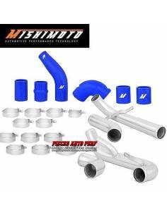 Kit tubulures d'échangeur Aluminium et Durites Bleu pour MITSUBISHI Lancer EVO 10