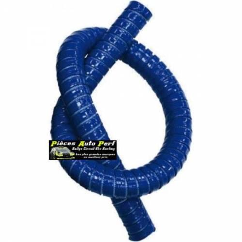 Durite droite Flexible silicone renforcé Bleu Longueur 1 mètre Diamètre 38mm