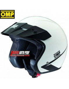 Casque JET Circuit OMP Star 2017 Blanc