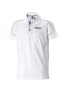 Polo homme SPARCO Racing Blanc