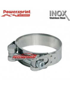 Collier d'échappement Inox pour tubes Diamètre 52mm à 55mm