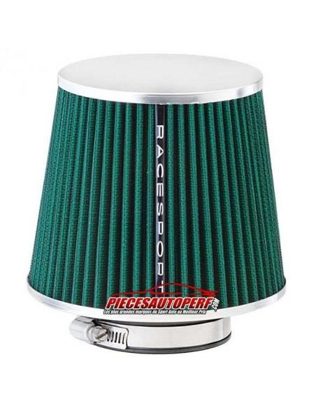 Filtre Admission directe Universel Simple cone Vert Couronne Inox