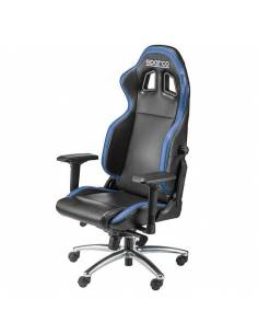 Siège de bureau en Simili Cuir SPARCO R100 S Noir/Bleu