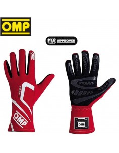 Gants Pilote FIA OMP First-S 2018 Rouge