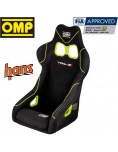 Siège baquet Fibre FIA OMP TRS-X Noir/Jaune