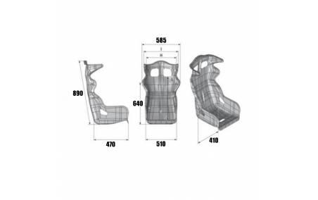 Dimensions du Siège baquet homologué FIA OMP SPORT Rac