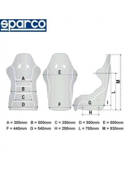 Cotes du Siège sportif  réglable SPARCO R100 MARTINI Racing Simili-cuir