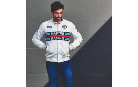 Blouson homme MARTINI Racing blanc porté