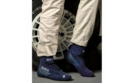Bottines FIA SPARCO Top MARTINI Racing portées