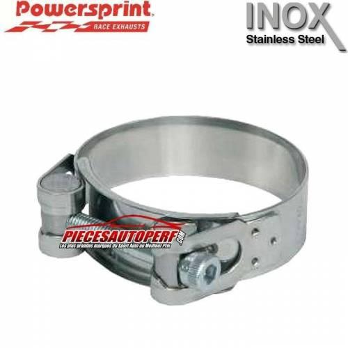 Collier d'échappement Inox pour tubes Diamètre 122mm à 130mm