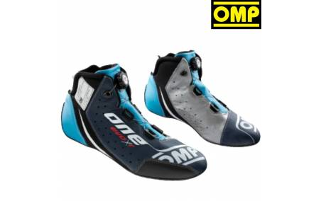 Bottines FIA Cuir OMP One Evo X R bleu