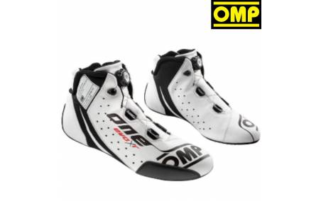 Bottines FIA Cuir OMP One Evo X R blanches