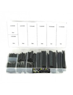 Coffret de 127 gaines thermo-rétractables Noir assorties