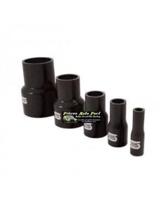 Durite Réducteur droit Silicone renforcé Noir Diamètre 38mm/25mm