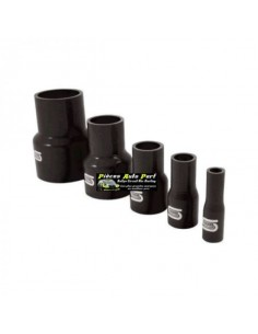 Durite Réducteur droit Silicone renforcé Noir Diamètre 51mm/38mm