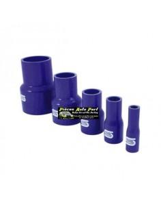 Durite Réducteur droit Silicone renforcé Bleu Diamètre 63mm/60mm