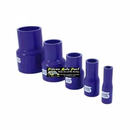 Durite Réducteur droit Silicone renforcé Bleu Diamètre 76mm/63mm