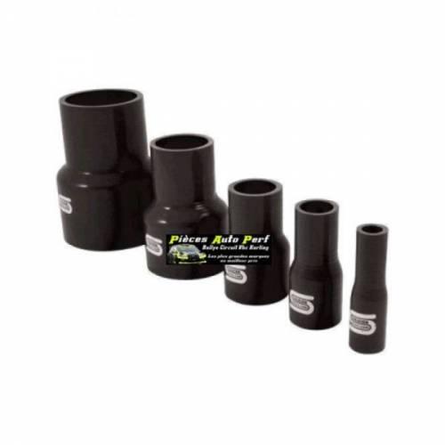 Durite Réducteur droit Silicone renforcé Noir Diamètre 76mm/63mm