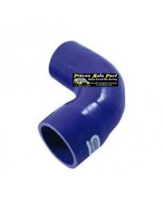 Durite Réducteur coudé 90° Silicone renforcé Bleu Diamètre 22mm/16mm