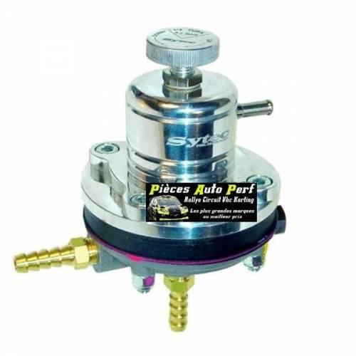 Régulateur de pression d'essence Réglable 1 à 5 Bars sytec Alu