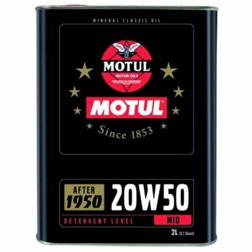 Huile moteur MOTUL Classic 20w50 Bidon 2 Litres