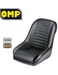 Siège baquet Tubulaire OMP Silverstone Simili-cuir Noir