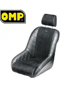 Siège baquet Tubulaire OMP Brands Hatch Simili-cuir Noir