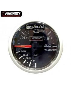 MANOMETRE PRESSION DE TURBO PROSPORT Diamètre 52mm -1/+2 Bars