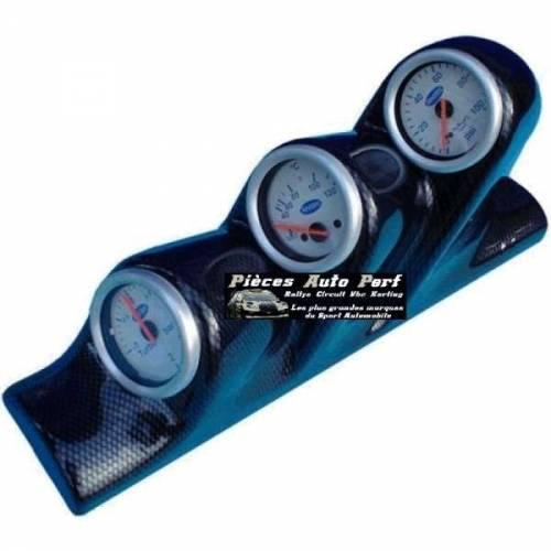 Support montant pare-brise Look Carbone pour 3 Manos Diamètre  52mm