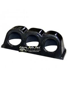 Support tableau de bord Look Carbone pour 3 Manos Diamètre 52mm